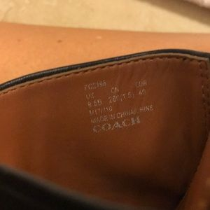 Coach Shoes - EUC COACH tassel slide sandal. Black